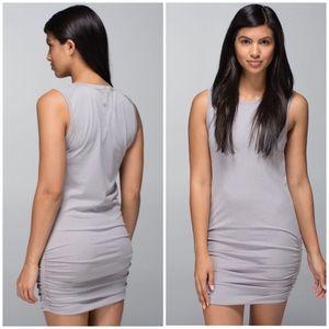 Lululemon In The Flow Dress Grey 8